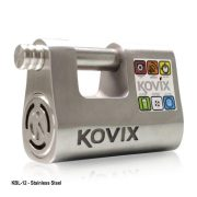 Alarmed Lock Straight Shackle Padlock 12mm (Kovix KBL12)